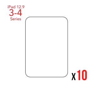 """Bulk pack of 10 Tempered Glass for use with iPad Pro 12.9"""" Gen 3 / 4"""