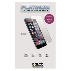 Platinum Tempered Glass Screen Protector for use with iPhone XR / 11 ( 6.1 inch ) - (Retail Packaging)