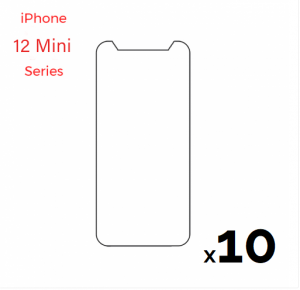 Bulk pack of 10 Tempered Glass Screen for use with iPhone 12 Mini