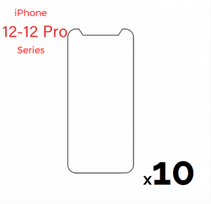 Bulk pack of 10 Tempered Glass Screen for use with iPhone 12/12 Pro