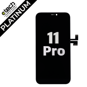Platinum Aftermarket Soft OLED Assembly for use with iPhone 11 Pro (Black)