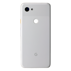 Back Glass for use with Google Pixel 3a (White)