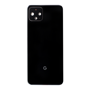 Back Glass for use with Google Pixel 4 (Black)