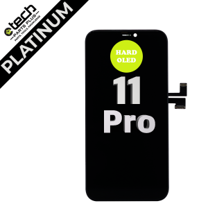 Platinum Hard OLED Assembly for use with iPhone 11 Pro