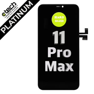 Platinum Hard OLED Assembly for use with iPhone 11 Pro Max
