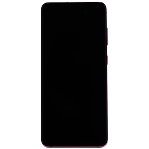 OLED/Digitizer Assembly with Frame for use with Samsung Galaxy S20 (G980 All Carriers Except Verizon) (Cloud Pink)