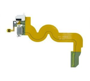 Home Button, Dock, and Headphone Jack Flex Cable for use with iPod Touch Gen 5, White