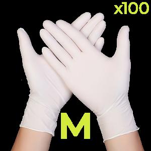 Disposable Nitrile Gloves - Medium (Box of 100)