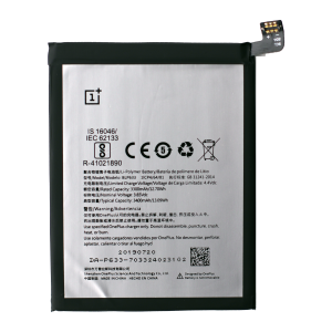Battery for use with OnePlus 3T