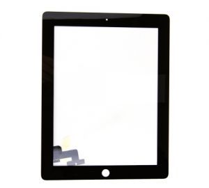 Glass and Digitizer Touch Panel, Black, for use with iPad 2