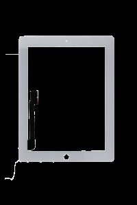 Platinum Digitizer for use with iPad 3/4 (White)
