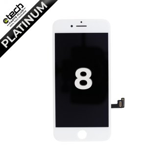 Platinum LCD Assembly for use with iPhone 8/ iPhone SE(2020)(White)