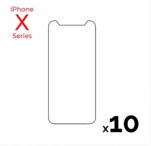 Bulk pack of 10 Tempered Glass Screens for use with iPhone X/Xs/11 Pro