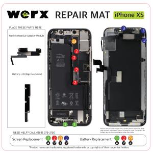 Magnetic Screwmat - iPhone XS