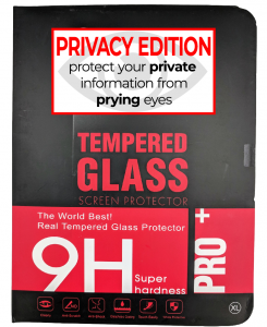 Premium Privacy Tempered Glass Protector for use with Ipad Mini 4 - (retail packaging)