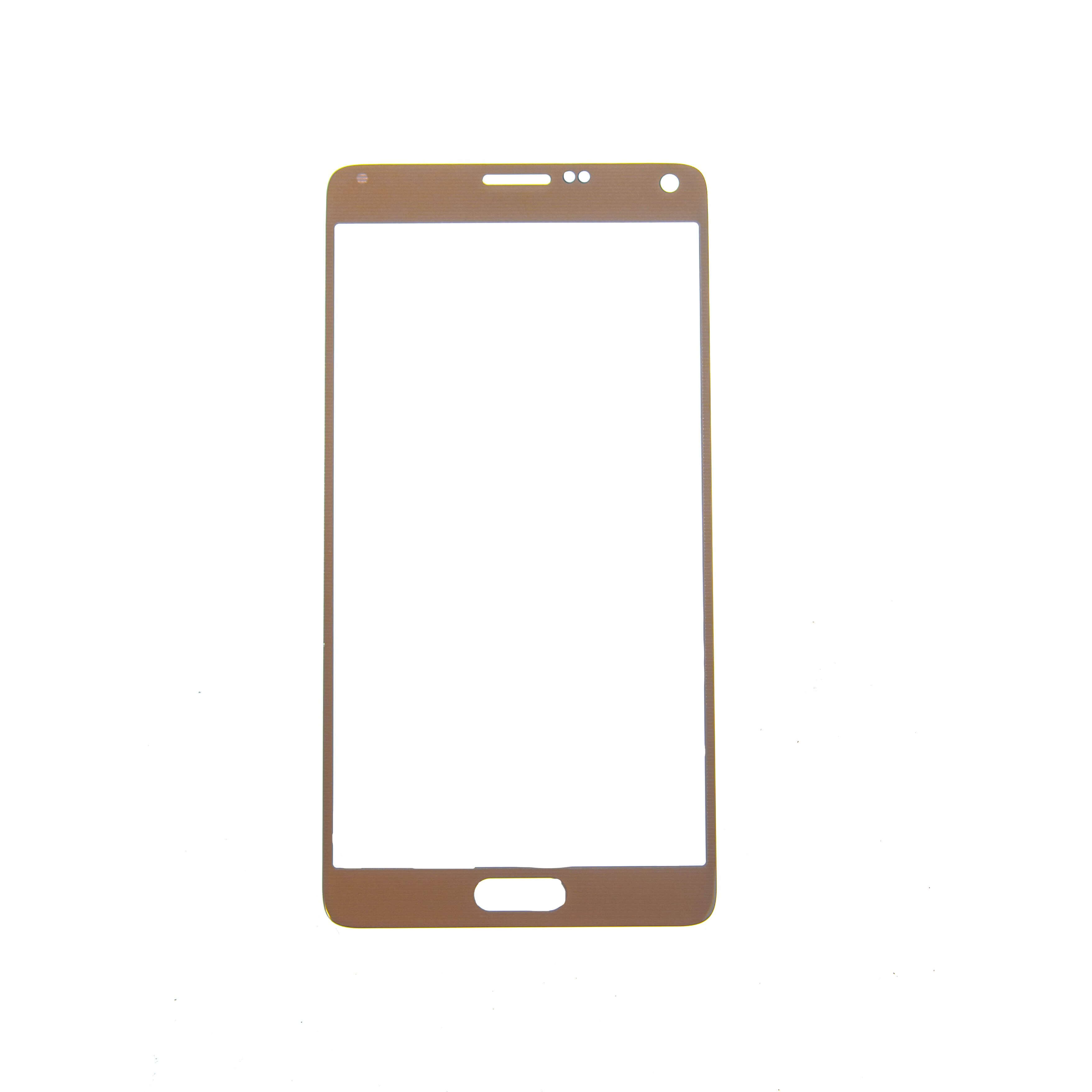 Glass only for use with Samsung Galaxy Note 4 SM N910 Gold No Logo