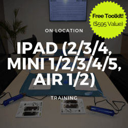 iPad (2,3,4,Mini 1/2/3/4/5, Air/ Air 2) Training + Toolkit (On Location)