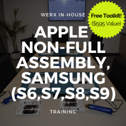 Apple Non full assembly, Samsung (S6,S7,S8,S9) Training +TK