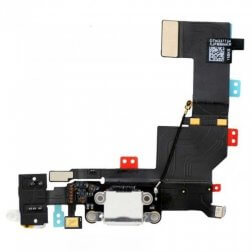 Charge Port/Headphone Jack Flex Cable- White for use with iPhone 5SE