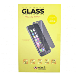 Premium Privacy Tempered Glass Protector for iPhone 7P/8P (Retail Packaging)