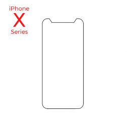 Single Pack Tempered Glass Screen Protector for use with iPhone X, Xs