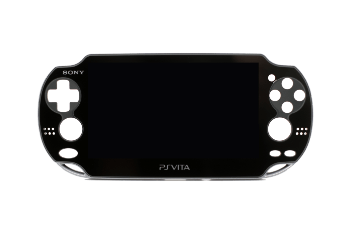 LCD with Frame for use with Sony PS Vita 1st Gen (Black)