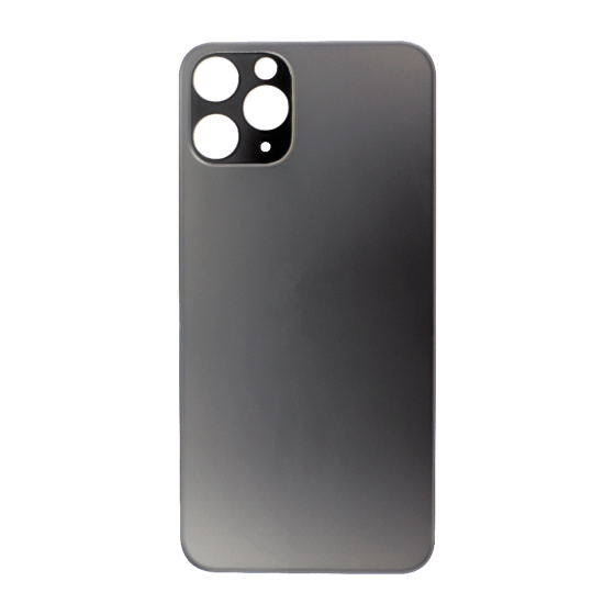 Back Glass (No Logo) for use with iPhone 11 Pro (Grey)
