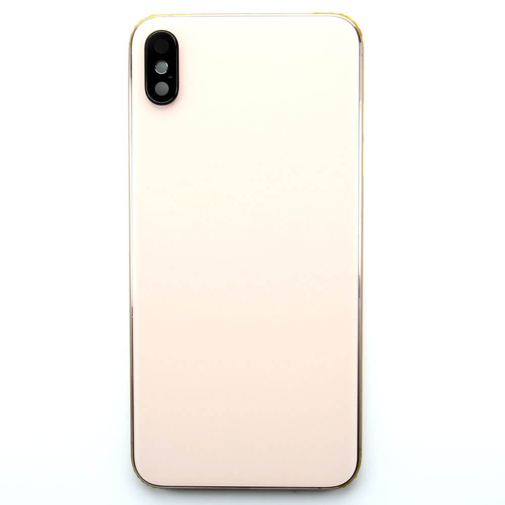 new styles f7a0c 77ee1 Frame with Back Glass for use with iPhone XS Max (Rose Gold)