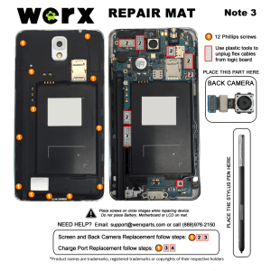 Magnetic Screwmat - Samsung Galaxy Note 3