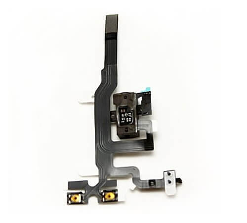 Headphone Jack, Volume and Silent Switch Assembly, Black, for use with iPhone 4S
