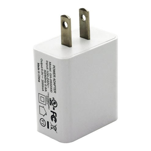 Dual USB Power Adapter 5V-2A (White)