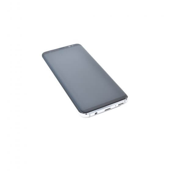 LCD & Digitizer assembly (with frame) for use with Samsung S8 (Silver)