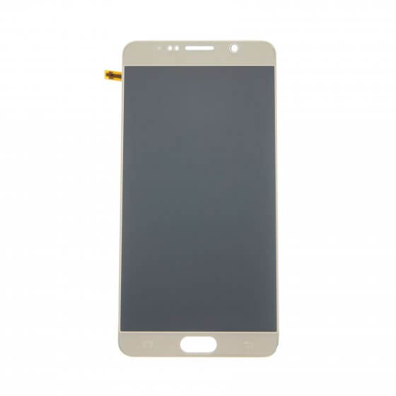 LCD & Digitizer Assembly for use with Samsung Galaxy Note 5 SM-N920, Gold (No home button & flex)