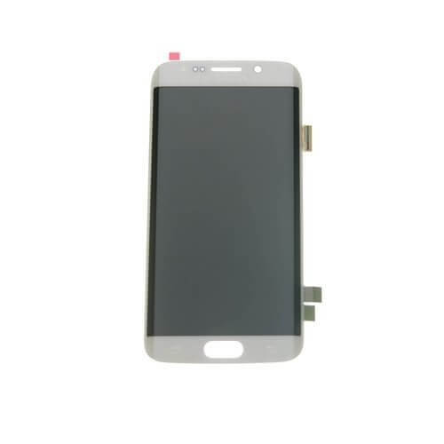 LCD & Digitizer for use with Samsung Galaxy S6 Edge G925 White, No Frame (No home button & flex)
