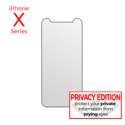 Premium Privacy Tempered Glass protector for use with iPhone XR (Retail Packaging)