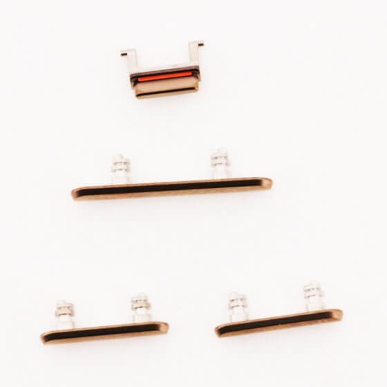 Side Buttons for use with iPhone 11 Pro Max (Gold)