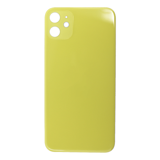 Back Glass (No Logo) for use with iPhone 11 (Yellow)