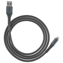 ChargeSync Alloy Lightning Charge Cable (10ft)(Steel Gray)