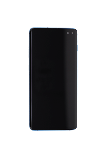 OLED/Digitizer assembly (with frame) for use with Samsung Galaxy S10 Plus (Blue)
