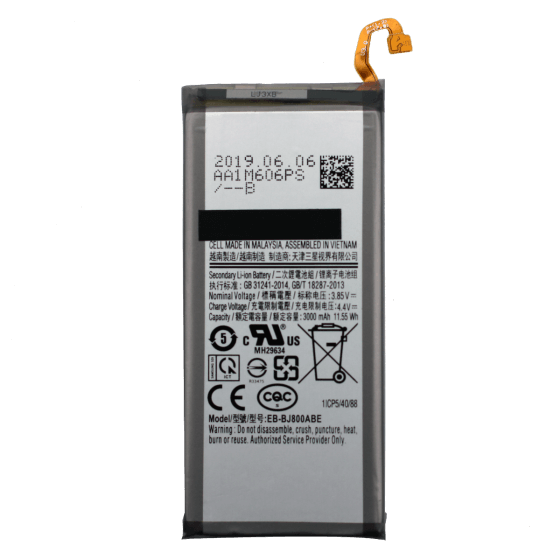 Battery for use with Galaxy J8