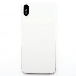 Frame with Back Glass for use with iPhone XS Max (White)