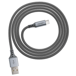 ChargeSync Alloy USB-C Charge Cable (4ft)(Steel Gray)