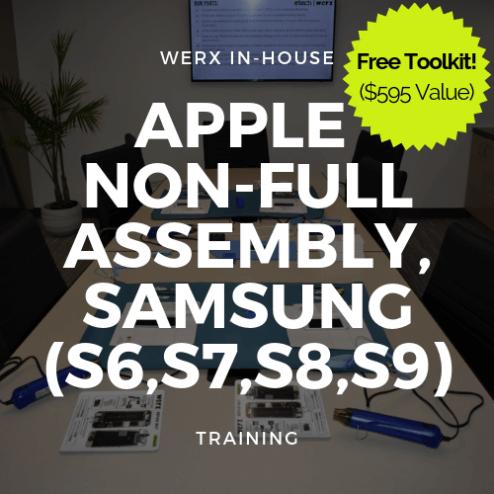 Apple Non full assembly, Samsung (S6,S7,S8,S9) Training +TK