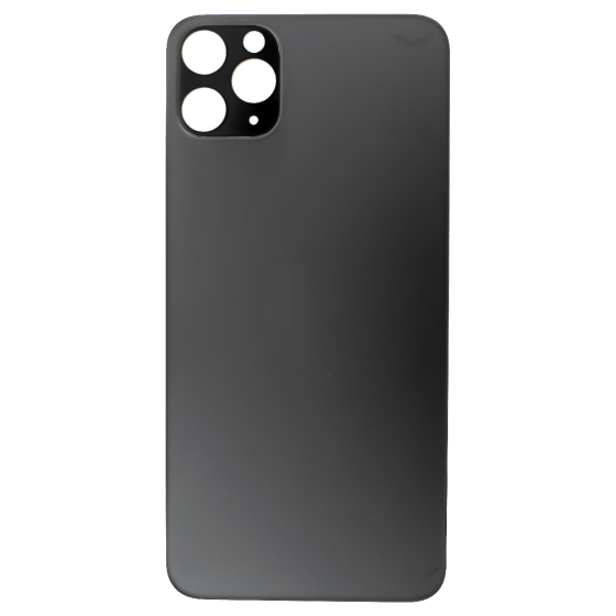Back Glass (No Logo) for use with iPhone 11 Pro Max (Grey)