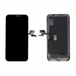Platinum OLED for use with iPhone X (Black)