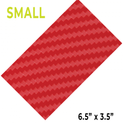 ProtectionPro - Small Red Carbon Fiber Film (Blank)