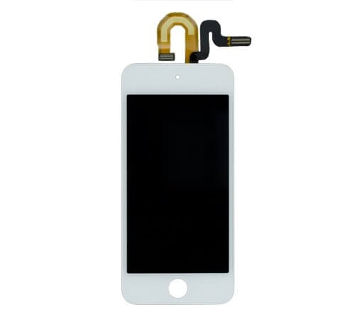 Complete LCD, Digitizer and Glass Screen Assembly, White for use with Gen 5 iPod Touch 32gb and 64gb