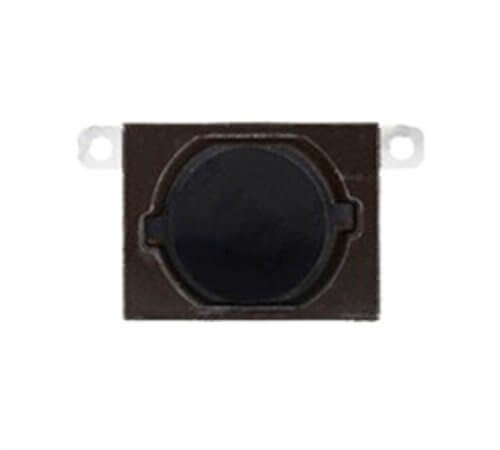 Home Button w/Flange, Black for use with iPhone 4S