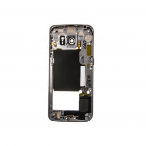 Back Housing for use with Samsung Galaxy S6 Edge G925, with Small Parts, White
