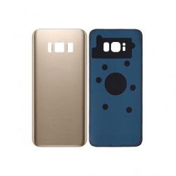 Back Glass with Adhesive for use with Samsung Galaxy S8 Plus (Gold)